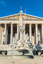 Austrian parliament in vienna austria Stock Photography