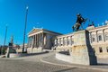 Austrian parliament in vienna austria Royalty Free Stock Photo