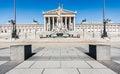 Austrian parliament in Vienna, Austria Royalty Free Stock Photo