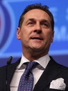 Austrian right wing fpö politician heinz christian strache here adresses members of the german party afd in Stock Photo