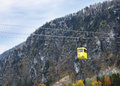 Austrian ropeway traditional over autumnal alpine mountain Royalty Free Stock Photos
