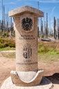 Austrian Side Of Border Stone ...