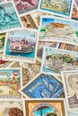 Austrian stamps symbol photo for collecting hobby and rarities Royalty Free Stock Images