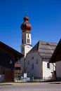 Austrian typical church tyrol in the middle of the alps Royalty Free Stock Image