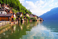 Austrian village in the Alps Royalty Free Stock Image