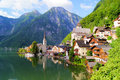 Austrian village in the Alps Royalty Free Stock Photo