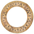 Authentic ancient ship compass paper ring used for navigation Royalty Free Stock Photo