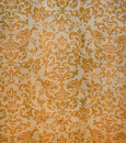 Authentic Antique Damask Fabric Stock Photography