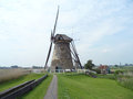 The Authentic Dutch Windmill at Kinderdijk Windmill Complex, South Holland Royalty Free Stock Photo