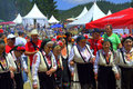 Authentic folklore women group,Bulgaria Royalty Free Stock Photo
