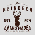 Authentic hipster logotype with reindeer and arrows