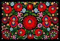 Authentic hungarian pattern traditional multicolor Royalty Free Stock Image