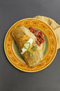 Authentic Mexican Burrito Royalty Free Stock Photo