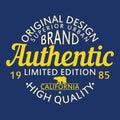 Authentic original design for clothing, superior urban brand graphic for t-shirt. Original clothes design, apparel typography.