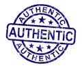 Authentic Stamp Showing Real Certified Product Royalty Free Stock Image