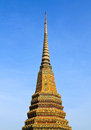 Authentic thai architecture in wat pho at bangkok of thailand Royalty Free Stock Photo