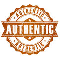 Authentic vector stamp Royalty Free Stock Photo