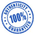 Authenticity guaranteed rubber stamp Royalty Free Stock Photo