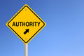 Authority Road Sign Royalty Free Stock Photo