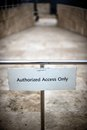 Authorized access only Royalty Free Stock Image