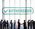 Authorized Approve Permission Sanction Graphic Concept Royalty Free Stock Photo