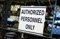 Authorized personnel only sign Royalty Free Stock Image