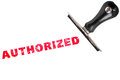 Authorized stamp text with stamper Royalty Free Stock Photo