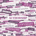 Authorship word cloud concept illustration wordcloud collage Stock Photography