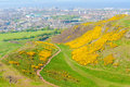 Authur s seat in edinburgh scotland uk path to Royalty Free Stock Photography