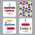 Autism awareness set of cards