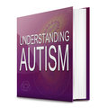 Autism concept illustration depicting a text book with an title white background Stock Photography