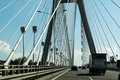 Auto Brige and cars Royalty Free Stock Photo