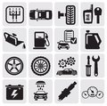 Auto Car icons Royalty Free Stock Image