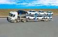 Auto-carriervrachtwagen Stock Afbeelding