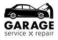 Auto center, garage service and repair logo,Vector Template.