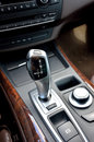 Auto gear lever luxury automatic inside car Stock Photo