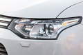 Auto headlight closeup of a new car Stock Image