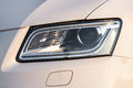 Auto headlight front face closeup of a new car Stock Images