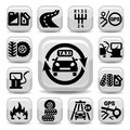 Auto icon set elegant icons created for mobile web and applications Royalty Free Stock Photo