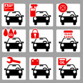 Auto icons 1 Royalty Free Stock Photography