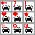 Auto icons 2 Stock Photography