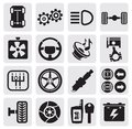 Auto icons Stock Photo