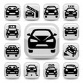 Auto icons elegant set created for mobile web and applications Stock Photography