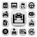 Auto icons set elegant created for mobile web and applications Stock Photography