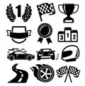 Auto icons vector black and symbols for sports Royalty Free Stock Photos