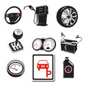 Auto icons a vector illustration of Stock Photography