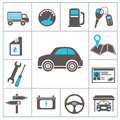 Auto icons for you design Royalty Free Stock Photo