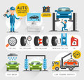 Auto Maintenance Services icons.