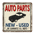Auto parts vintage  metal sign Royalty Free Stock Photo