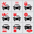 Auto repair icons Royalty Free Stock Images